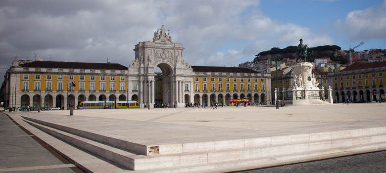 COMERCIO SQUARE in the city of Lisbon Portugal