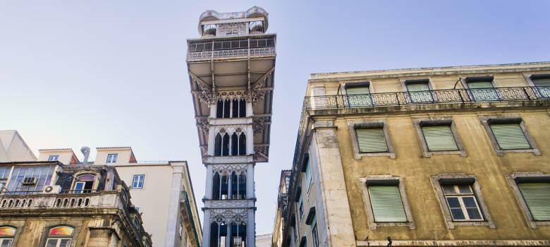 Santa-Justa-Elevator-In-Lisbon
