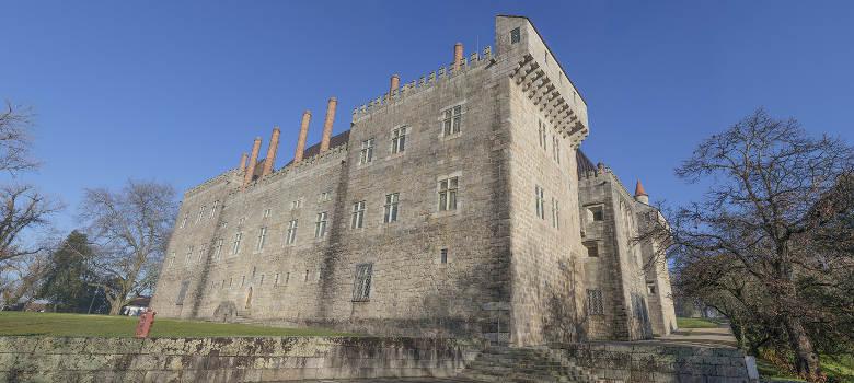 Panoramic image of Paco dos Duques of Braganca, Guimaraes Portugal