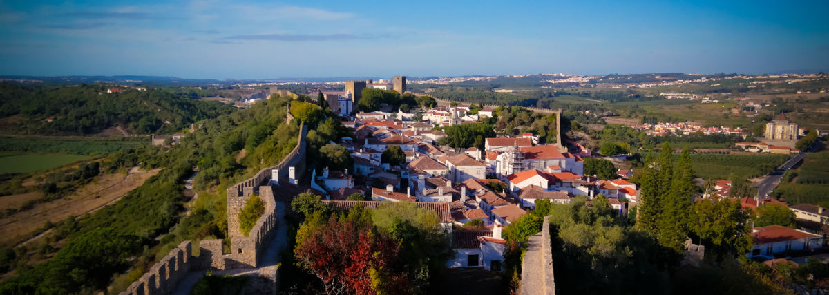 Cityscape view to Obidos old city Portugal