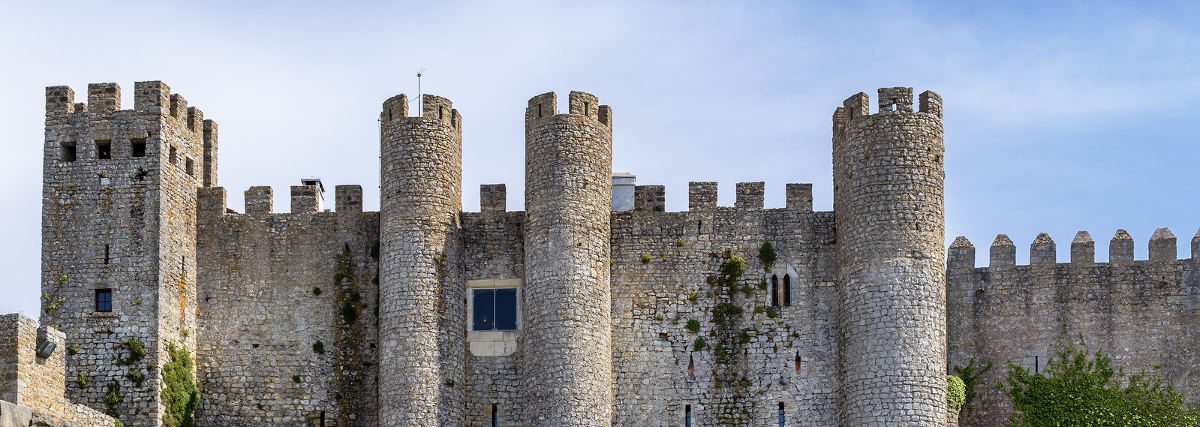 Obidos, Portugal - Castle of Obidos in the medieval town of Obidos