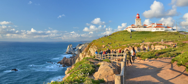 Cabo Da Roca Cape In Portugal, Most Western Point Of Continental