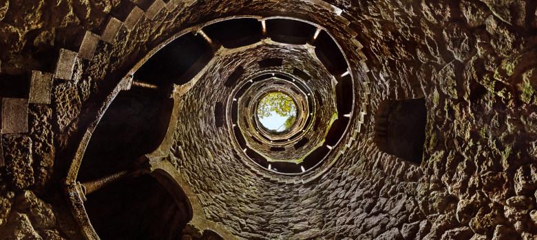 Initiation Well in Castle Quinta da Regaleira - Sintra Portugal