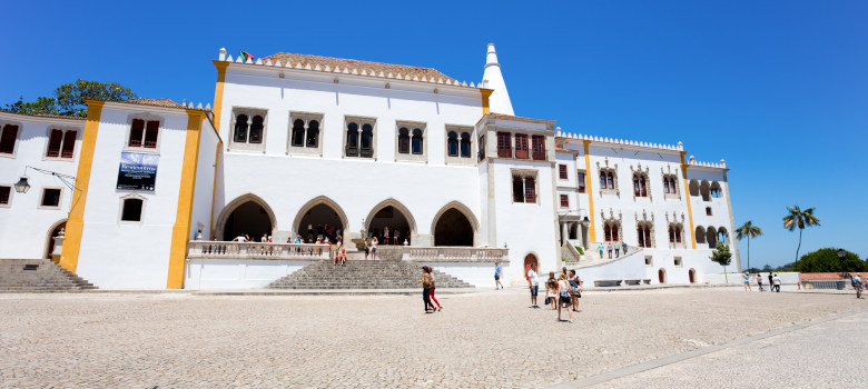 Sintra, Portugal June, 20 2016 - National Palace In Sintra, Port