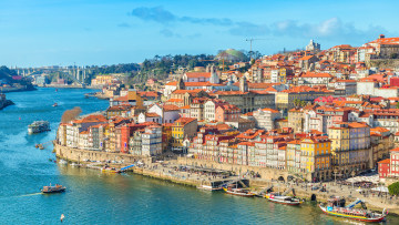 Cityscape Of Porto (oporto) Old Town, Portugal. Valley Of The Do