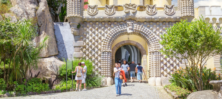 Sintra, Portugal - June 25, 2018: The Iron Gate In The Pena Nati