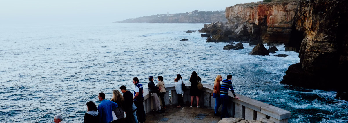 Cascais, Lisbon / Portugal - Oct 10 2015 : The Famous Cliffs Of