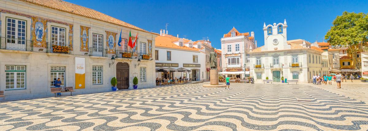 Cascais, Portugal - August 6, 2017: Side View Of Cascais Town Ha