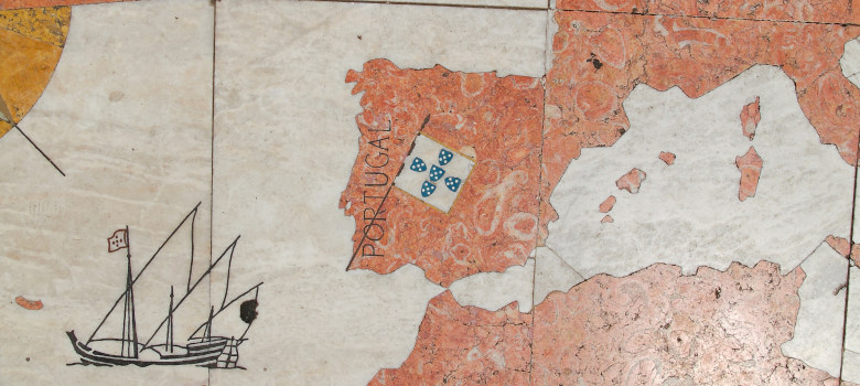 Stone Map From Europe At Belem Lisboa